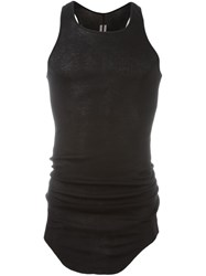 Rick Owens Fitted Tank Top Black