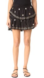 Loveshackfancy Ruffle Miniskirt Black