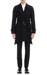 Comme Des Garcons Comme Des Garcons Twill Double Breasted Trench Coat Black