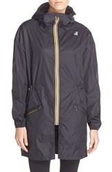 Women's K Way 'Celine 3.0' Waterproof Jacket Black