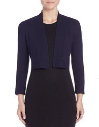 Calvin Klein Long Sleeve Cropped Cardigan Navy