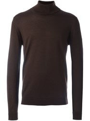 Roberto Collina Turtleneck Sweater Brown