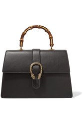Gucci Dionysus Bamboo Large Leather Tote Black