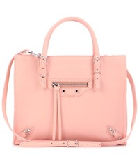 Balenciaga Mini Papier A4 Zip Around Leather Shoulder Bag Pink