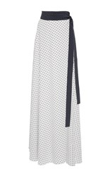 Alexis Corinna Dot Maxi Skirt White