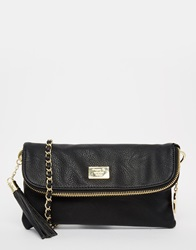 Marc B Foldover Clutch Bag Black