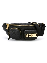 Moschino Quilted Logo Bumbag Black
