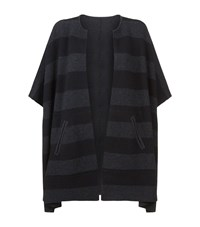 Eileen Fisher Reversible Poncho Female Black