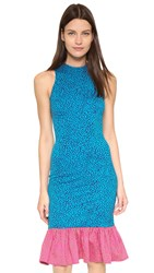 House Of Holland Pufferfish Frill Dress Blue