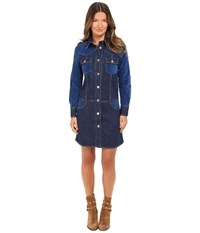 See By Chloe Denim And Velvet Button Front Romper Washed Indigo