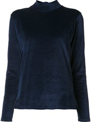 Majestic Filatures Roll Neck Jumper Blue