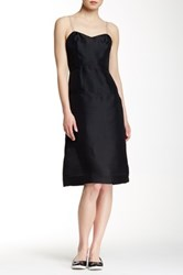 Marc By Marc Jacobs Sheer Layer Silk Dress Black