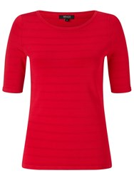 Bruce By Bruce Oldfield Shine Stripe Knit Top Red