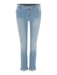 Therapy George Slim Boyfriend Jean Denim Light Wash