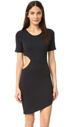 Lna Cut Out Tee Dress Black