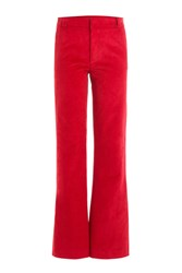 Paul And Joe Flared Corduroy Pants Red