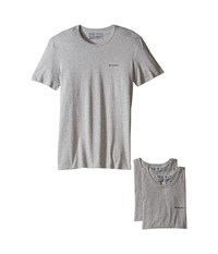Columbia 100 Cotton Crew T Shirt 3 Pack Grey Heather Men's Underwear Gray
