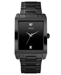 Guess Watch Men's Diamond Accent Black Ion Plated Stainless Steel Bracelet 41X37mm U12557g1