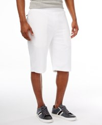 Sean John Men's Limited Edition French Terry Shorts Bright White