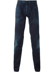 Emporio Armani Faded Slim Fit Jeans Blue