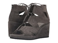 Eileen Fisher Dibs Graphite Tumbled Nubuck Women's Wedge Shoes Gray