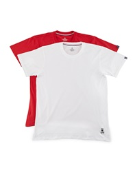 Psycho Bunny Tagless Jersey Tee Two Piece Set Red White