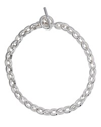 Ralph Lauren Toggle Necklace 18 Silver