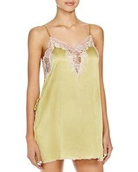 Josie Natori New Lolita Chemise Anise Green Rose Beige Lace