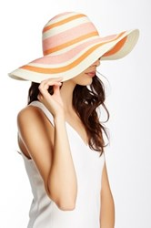 14Th And Union Multicolored Stripe Floppy Hat Pink