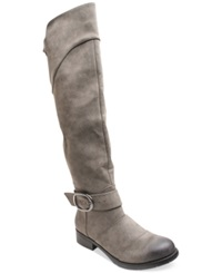 Two Lips Too Jaden Over The Knee Boots Women's Shoes Grey