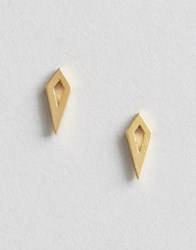 Orelia Open Diamond Shape Earrings Pale Gold