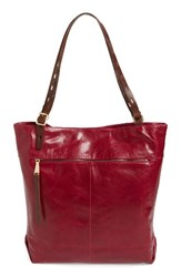 Hobo Lennon Leather Tote Red Red Plum