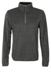 Your Turn Active Fleece Jumper Dark Grey Melange Mottled Dark Grey