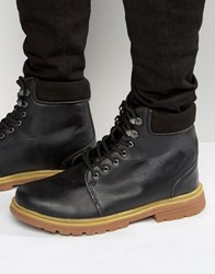 Bellfield Heritage Boots In Black Leather Black
