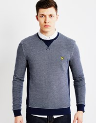 Lyle And Scott Twill Look Crew Neck Sweatshirt Navy