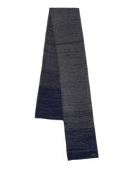 John Varvatos Ombre Knit Wool And Cashmere Scarf