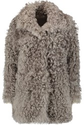 Iris And Ink Dulce Shearling Coat Neutral