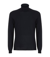 Boss Musso B Roll Neck Sweater Male Navy