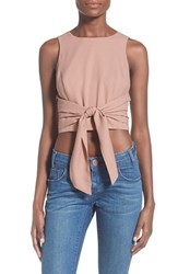 Women's J.O.A. Tie Front Crop Top
