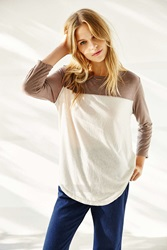 Truly Madly Deeply Emily Football Tee Ivory