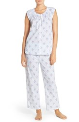 Women's Midnight By Carole Hochman Print Cotton Pajamas