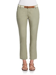 Joie Jardin Cropped Stretch Cotton Trousers
