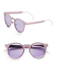 Minkpink 45Mm Round Sunglasses Pink