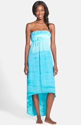 Women's Hard Tail Strapless High Low Dress