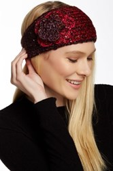 David And Young Flower And Sequin Headband Red