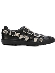 Toga Pulla Buckled Sneakers Black