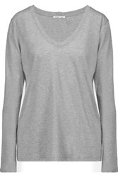 Helmut Lang Cotton And Cashmere Blend Top Gray