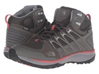 The North Face Litewave Explore Mid Wp Dark Gull Grey Spiced Coral Women's Hiking Boots Brown