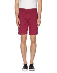 Maison Clochard Trousers Bermuda Shorts Men Garnet
