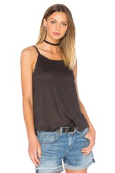 Chaser Scoop Back Flounce Tank Charcoal